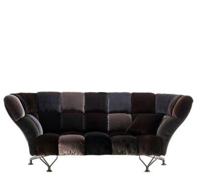33 CUSCINI Velvet Sofa Grey Velvet