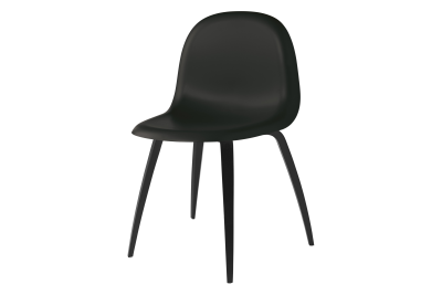 Gubi 3D Wood Base Dining Chair - Unupholstered Gubi HiRek Nightfall Blue, Gubi Wood American Walnut