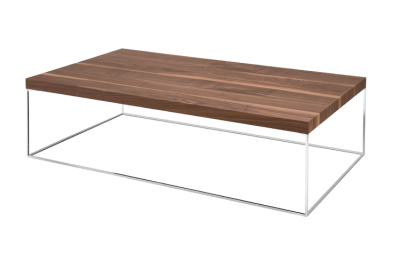 670 Oliver Low Table - Rectangular Canaletto Walnut, Painted Graphite