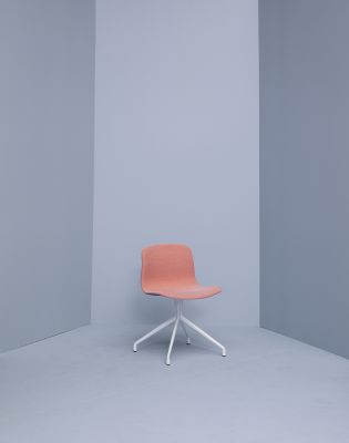 About A Chair AAC11 Polished Aluminium, Leather Silk SIL0197 Cream