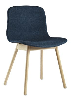 About A Chair AAC13 Leather Silk SIL0197 Cream, Lacquered Oak Legs