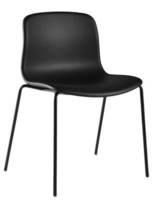 About A Chair AAC17 Leather Silk SIL0197 Cream, Chromed Steel