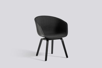 About A Chair AAC42 with front upholstery Surface by Hay 120, Black, Black Stained Oak veneer