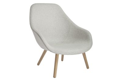 About A Lounge Chair AAL92, Lacquered Oak Legs Hallingdal 65 100