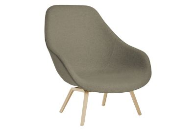 About A Lounge Chair AAL93, Lacquered Oak Legs Hallingdal 65 100
