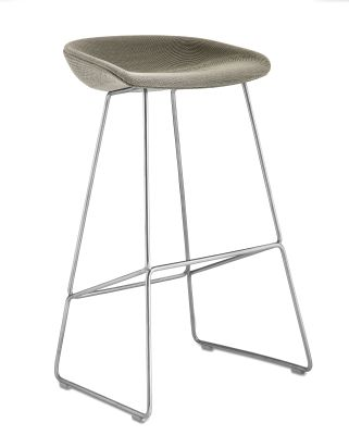 About A Stool AAS39 Compound 0001, Stainless Steel Base, Low