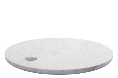 AC07 Cut Round Cutting Board White Marble