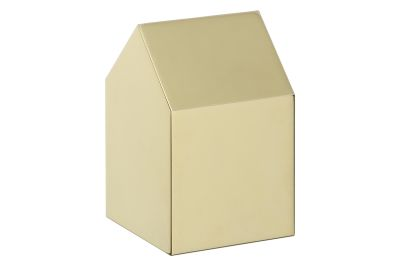 AC10 Haus Paper Weight, Saddle Roof Polished Brass, Short