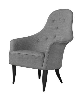 Adam Lounge Chair Canvas 114, Gubi Wood Lacquered Oak