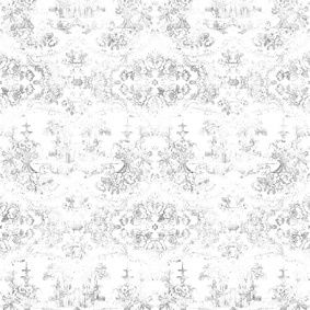 Almost White Delft Baroque Wallpaper  Almost White Delft Baroque Wallpaper