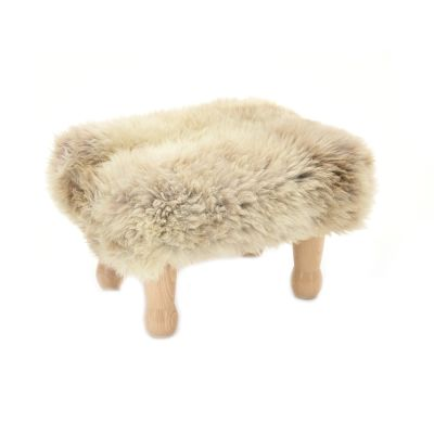 Angharad sheepskin Footstool  Angharad Baa Stool in Rare Breed