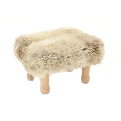 Angharad sheepskin Footstool  Angharad Baa Stool in Rare Breed