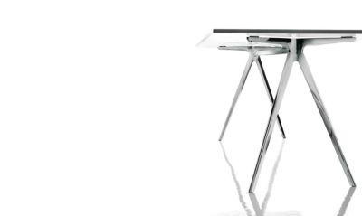 Baguette Dining Table Ardesia, Polished Aluminium, 160cm