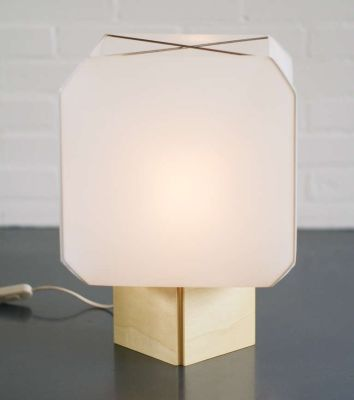 Bali Table Lamp Nickel Metal