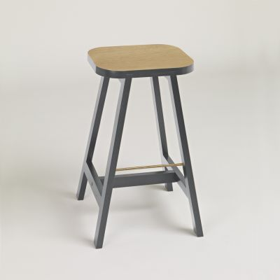 Bar Stool Three Oak, Chamberlayne Grey, 65 cm