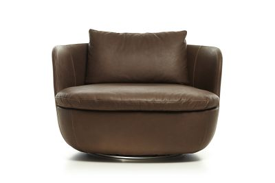 Bart Swivel Armchair Tartanic Cinnamon