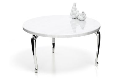 Bassotti Coffee Table - Round Low, White