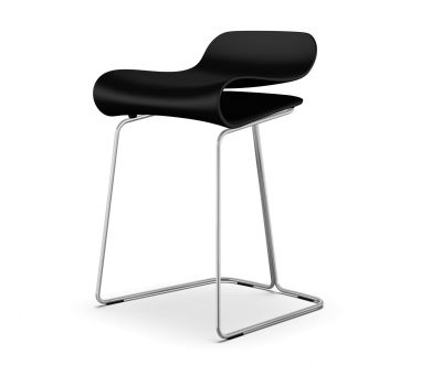 BCN Stool On Slide Frame White, White, 76