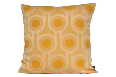 Benedict Square Cushion Yellow, Large Repeat Pattern, Square