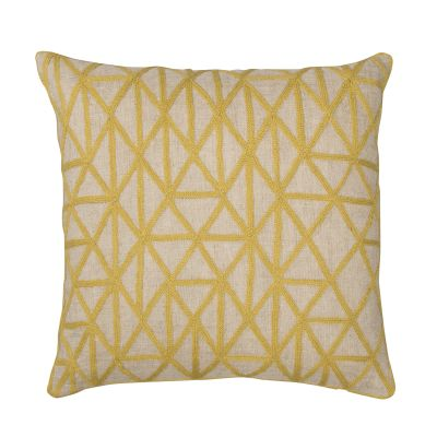 Berber Cushion Chartreuse & Natural Linen
