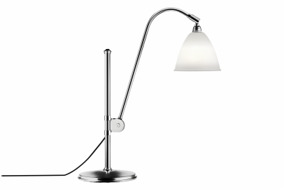 Bestlite BL1 Table Lamp Bone China and Chrome