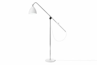Bestlite BL4 Floor Lamp Matt White and Chrome
