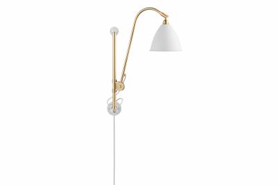 Bestlite BL5 Wired Wall Light Matt White, Solid Brass