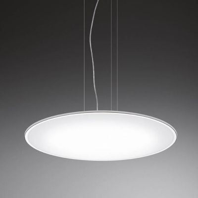 Big Pendant Light Matt White Lacquer, 100cm, 4000, Yes