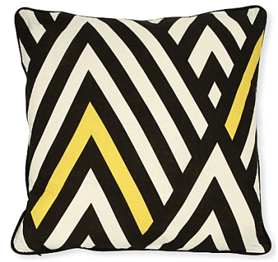 Black Chevron Cushion