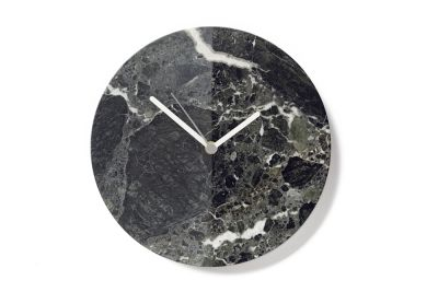 Black Marble Moon Clock