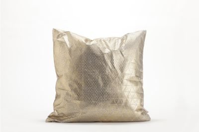 Bling Origami Square Cushion Cover Bling Grey & Gold_m