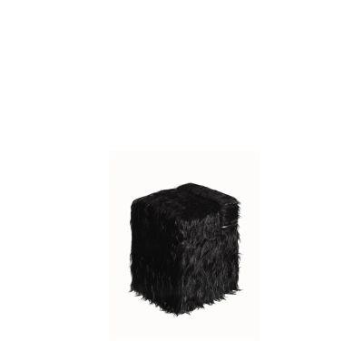 Blocco Pouf Black Mongolian Fur