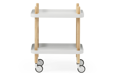 Block Side Table Light Grey