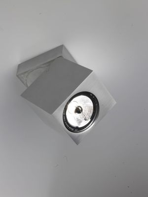 Blok Ceiling 10 Lamp Orientable Satin Silver