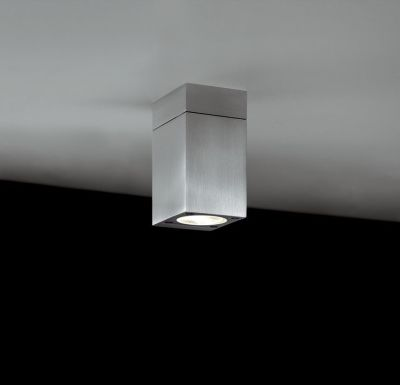 Blok Out Ceiling Lamp Anodised Silver