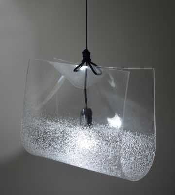 Blue Square Pendant Light 2 Holes