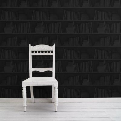 Bookshelf Wallpaper Samples  Black Bookshelf Wallpaper Sample