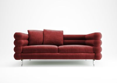 Boutique 2 Seater Sofa - Botero Toes Chrome