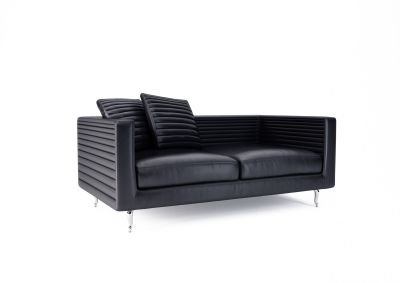 Boutique 2 Seater Sofa - Horizons Toes Chromed