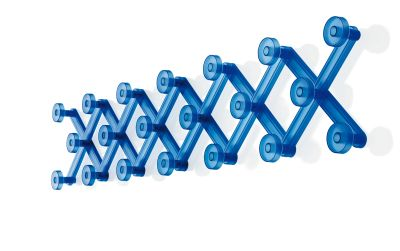 Bridge Coat Hanger - Set of 4 Blue, Extending