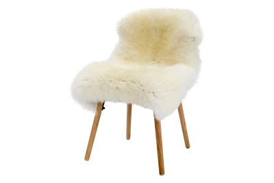 British Tanned Sheepskin Natural White