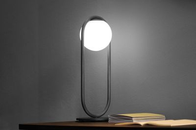 C_Ball Table Lamp Black Varnish