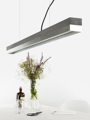 [C1] ZINC - Dimmable LED - Concrete & Zinc Pendant Light Dimmable, Dark Grey Concrete, Zinc
