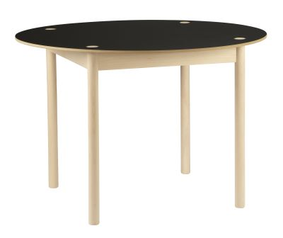 C44 Round Dining Table Black Top