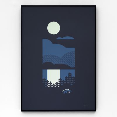 Cabin A2 Screen Print