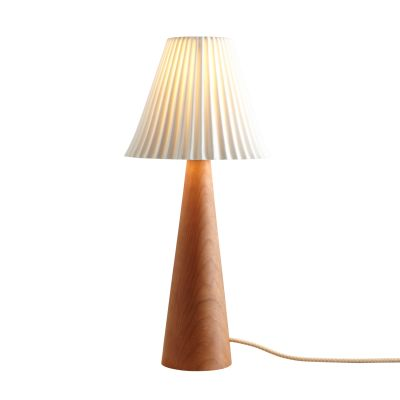 Cecil Table Lamp, Cone Base Oak Cone