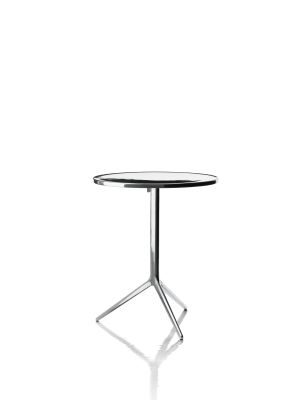 Central Folding Table - Round Polished, Polished Aluminium