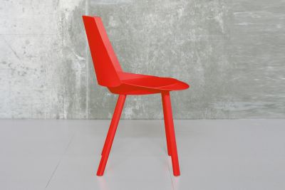 CH04 Houdini Dining Chair Neon Red