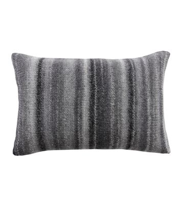 Chalet Glamour Cushion Grey, Darkgrey and Silver