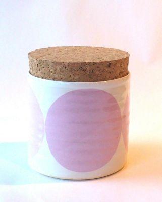 Circles Sugar Jar Pink